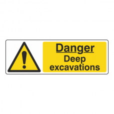Danger Deep Excavations Sign (Landscape)