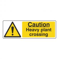 Caution Heavy Plant Crossing Sign (Landscape)