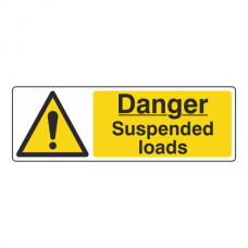 Danger Suspended Loads Sign (Landscape)