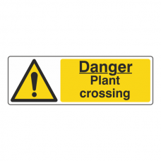 Danger Plant Crossing Sign (Landscape)