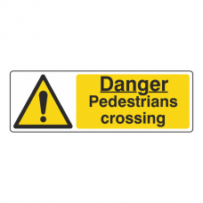 Danger Pedestrians Crossing Sign (Landscape)