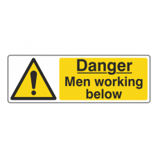 Danger Men Working Below Sign (Landscape)