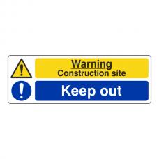 Construction Site / Keep Out Sign (Landscape)