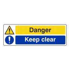 Danger / Keep Clear Sign (Landscape)