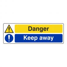 Danger / Keep Away Sign (Landscape)