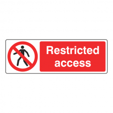 Restricted Access Sign (Landscape)