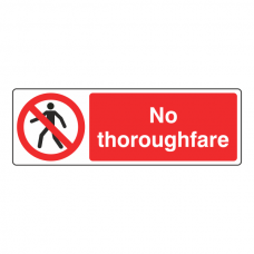 No Thoroughfare Sign (Landscape)