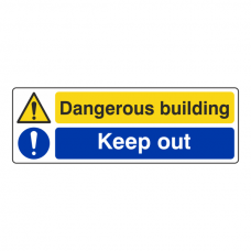 Dangerous Building / Keep Out Sign (Landscape)