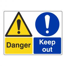 Danger / Keep Out Sign (Large Landscape)