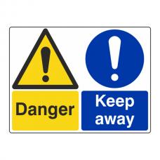 Danger / Keep Away Sign (Large Landscape)