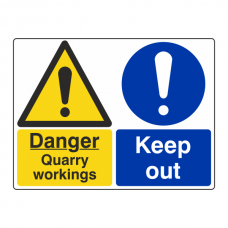 Quarry Workings / Keep Out Sign (Large Landscape)