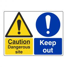 Dangerous Site / Keep Out Sign (Large Landscape)