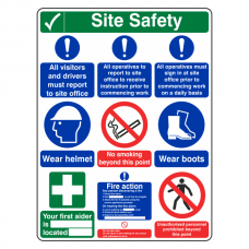 Multi-Hazard Site Safety 9 Point Sign