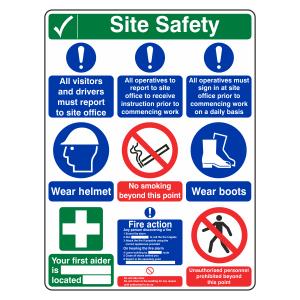 Multi-Hazard Site Safety 9 Point Sign