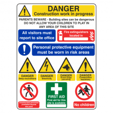 Multi-Hazard Site Safety Guard Dogs Sign