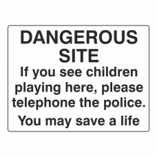 Dangerous Site Sign (Large Landscape)