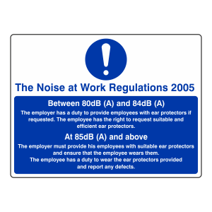Noise at Work Regulations 2005 Sign (Large Landscape)