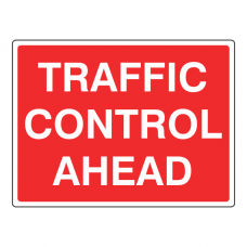Traffic Control Ahead Sign
