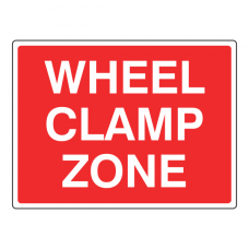 Wheel Clamp Zone Sign