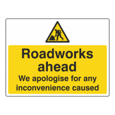Roadworks Ahead Sign