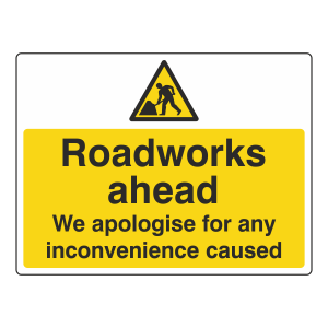 Roadworks Ahead Sign