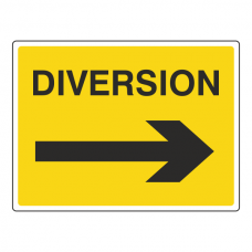 Diversion Arrow Right Sign