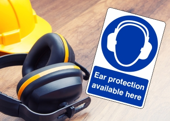 Mandatory Ear Protection Signs