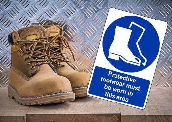 Mandatory Footwear Signs