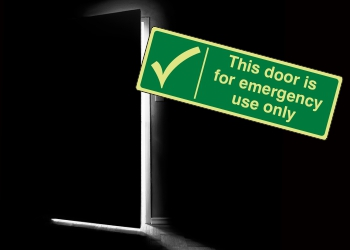 Photoluminescent Door Safe Condition Signs