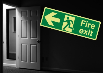 Photoluminescent Fire Exit/Exit Signs