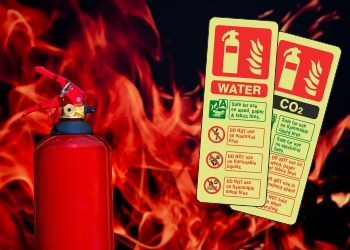Photoluminescent Extinguisher ID Signs