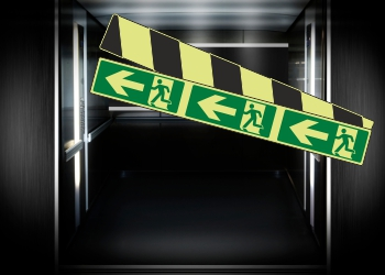 Photoluminescent Marking Strip Signs