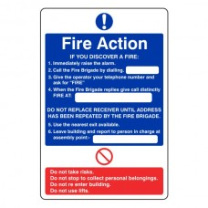 General Fire Action Sign 7