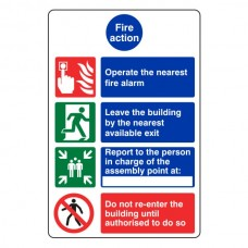General Fire Action Sign 10