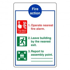 General Fire Action Sign 11