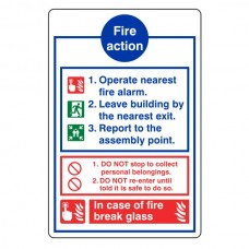 General Fire Action Sign 12