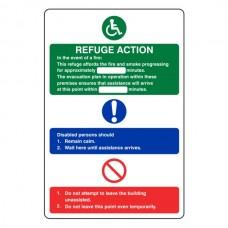 Refuge Fire Action Sign 1