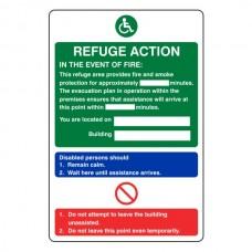 Refuge Fire Action Sign 2