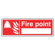 Fire Point Sign with Blank (Landscape)