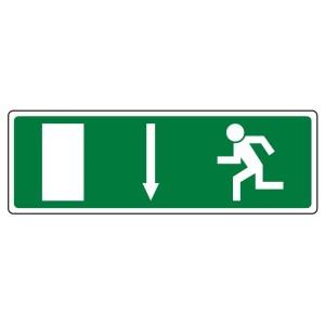 EC Fire Exit Arrow Down Sign