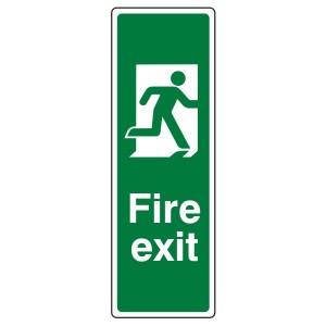 Final Fire Exit Man Right Portrait Sign (Portrait)