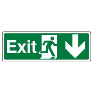 Exit Arrow Down Sign