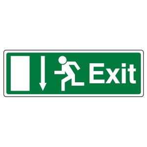 EC Exit Arrow Down Sign