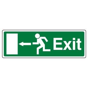 EC Exit Arrow Left Sign