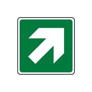Fire Exit Diagonal Arrow Sign (Logo)