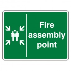 Fire Assembly Point With Family Sign