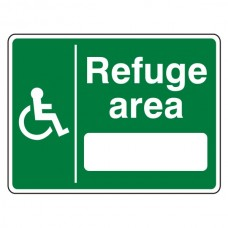 Refuge Area With Blank Sign