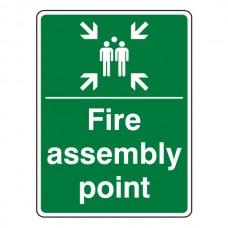 Fire Assembly Point With Family Sign (Portrait)