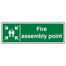 Fire Assembly Point Sign (Landscape)
