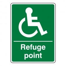 Refuge Point Sign (Portrait)
